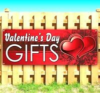 Valentine's Day Greeting Banner 2 x 6 FT  Wall Decoration with Hem and Eyelets