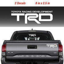 2 Toyota TRD Truck Off-Road Racing Decals Tacoma Tundra Pair Vinyl Sticker decal