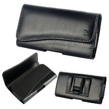 Black Leather Belt Clip Horizontal Pouch Case Cover For Apple iPhone 5 5S 5C #17