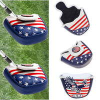 Mallet Putter Cover With Magnetic Closure Vinyl Headcover Club Protector US Ship