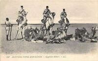 POSTCARD   EGYPT  MILITARY   Soldiers     LL  148