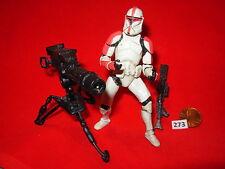 """Star Wars 2002 CLONE TROOPER Attack of the Clones w/Tripod Cannon 3.75"""" figure"""