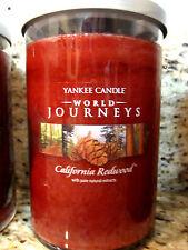 Yankee Candle 'CALIFORNIA REDWOOD' World Journeys 20 oz 2 wick Candle 2013 HTF