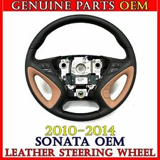 NEW OEM Leather Steering Wheel YDA-Beige color For 2010-2014 Hyundai SONATA