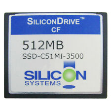 SiliconDrive CF 512MB CompactFlash CF Memory Card SSD-C51M