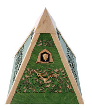 Black Forest Modern Art Cuckoo Clock Pyramid green NEW