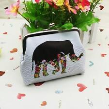 Womens Mini Elephant Wallet Handbag Leather Cute Card Holder Coin Purse Clutch