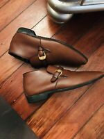 Vtg Bally Switzerland Continentals Mod Brown Leather Ankle Boots Men's 9