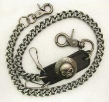 "28"" Harley Davidson Willie G Skull Medallion Biker Trucker Wallet Key Chain Clip"