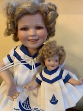 Rare Vintage Porcelain Doll And Identical Baby In Chair, Extra Set Of Clothing