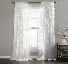Riley Window Curtain Panel White Single 54x95