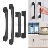 Matte Black Cabinet Pull Door Handle Steel Kitchen Hardware Drawer Knob T Bar