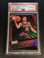 TRAE YOUNG 2018 PANINI #3 ROOKIE REVOLUTION REFRACTOR LIKE ROOKIE RC PSA 10 NBA