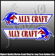 ALLY CRAFT - 430mm X 120mm X 2 - LEFT & RIGHT PAIR - BOAT DECALS
