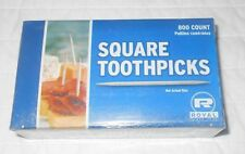 2 Royal Square Round Toothpicks 800 Ct Ea Box Birch Wood Craft Modelers Supply