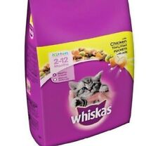 WHISKAS KITTEN - (2kg) - Chicken Dry Cat Biscuits Food Pet Feed Meal bp PawMits