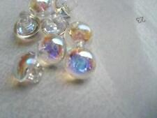 10 Piezas Tiny Trasparent iridiscente Baby Boda botones plásticos 9mm-c296