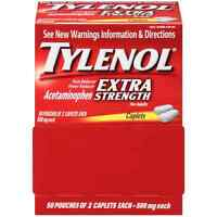 TYLENOL Extra Strength Pain - Fever Reducer Caplets, Two-Pack, 50 ea