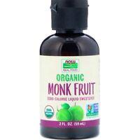 Organic Monk Fruit, (Luo Han Guo) Liquid Sweetener, 2 fl oz (59 ml) - Now Foods