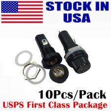 Panel Mount Screw Cap Fuse Holder Case for 6X30 MM Glass Tube FUSE - 10 Pack