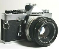Olympus OM1N 35mm SLR Film Camera with F1.8 50mm Prime Lens UK Fast Post
