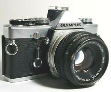 Olympus OM1N 35mm SLR Film Camera with F1.8 50mm Prime Lens UK Fast Post