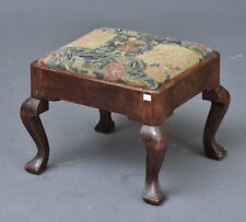 A George Ii Stool with Cabriole Legs and Needlepoint Upholstery