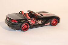 Dodge Viper Diecast Marvel Spiderman SRT-10 Convertible 1:18 Black & Red Rare