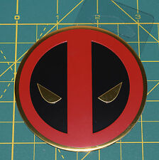 "Deadpool Logo Sticker 3.00"" Classic Metallic Golden Marvel Licensed Decal - NEW"