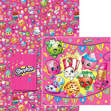 Shopkins Birthday Card & Wrapping Paper Pack with FREE P&P (SK009)