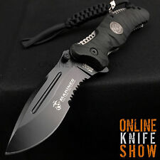 BLACK SPRING ASSISTED OPENING KNIFE Tactical Military USMC Marines Blade MTECH
