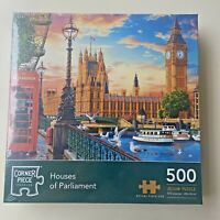 London Parliament 500 Piece Jigsaw Puzzle NEW FREE SHIPPING City London Eye Bird