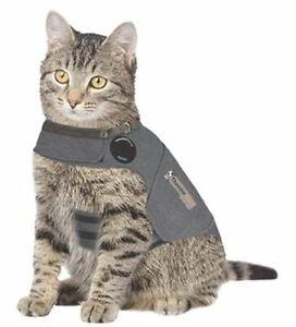 Thunder Shirt Cat Anxiety Treatment Shirt Jacket Solid Gray Medium 9-13 lbs