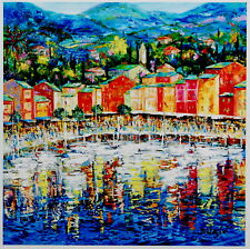 """Portofino"" by Duaiv (Fine Art on Canvas)"