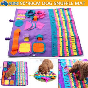 Dog Snuffle Mat Nose Training Sniffing Pad Toys Feeding Cushion Blanket Game