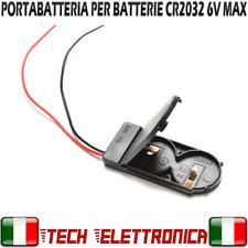 Porta batteria CR2032 2 SLOT 6V CASE CR2032 SWITCH ON OFF PLASTICA PORTABATTERIA