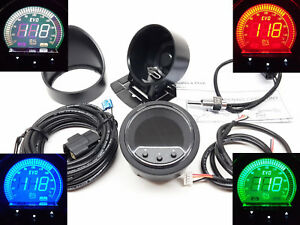 RSR OLED EVO Öltemperatur Anzeige + ALARM + PEAK 52mm Oil temp Gauge Instrument