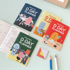 """""""Little Monsters"""" 1pc Pack of 4 Monthly 31 Days Planner Notebook Study Diary"""