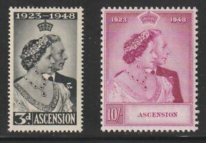 Ascension   1949   Sc # 52-53   Silver Wedding   VLH   (6005-1)
