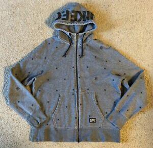 Nike F.C. Soccer Men's Gray Zip Front Hooded Sweatshirt - Size Large