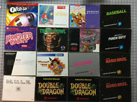 Lot of (20) Original NES Nintendo Video Game Manuals - Individually Priced