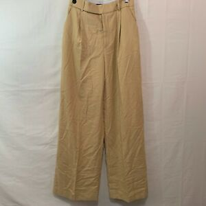 ZARA Women NWT Masculine Wide Leg Trouser High Waist Pants Small 1608 024