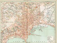 Stadtplan von NEAPEL 1894 Original-Graphik