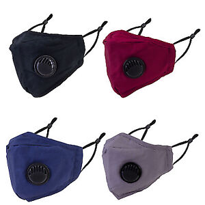 Face Mask Reusable Washable Anti Pollution PM2.5 Two Air vent With Filter