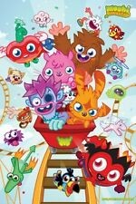 Moshi Monsters Rollercoaster POSTER 60x90cm NEW * Katsuma Furi Luvli Poppet