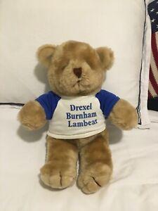 "Drexel Burnham Lambert Michael Milken ""Lambear"" Plush Teddy Bear Vintage Rare"