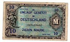 Allemagne GERMANY BILLET 10 MARK SERIE 1944 ALLIANCE MILITAIRE WWII BON ETAT