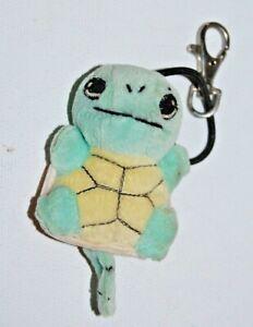 1998 Vtg Pokémon Squirtle 07 Plush Figure Keychain Clip Necklace Game Freak Rare
