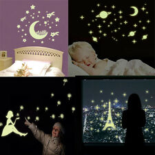 Glow In The Dark DIY Removable Decal Wall Stickers Kids Living Room Bedroom Deco
