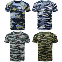 EB_ Students Unisex Summer Camouflage Military Combat T-Shirt Short Sleeve Blous